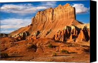 Southwest Mesa Landscape Canvas Prints - Wild Horse Butte Canvas Print by Utah Images