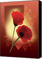 Floral Giclee Canvas Prints - Wild poppies Canvas Print by Gina Femrite