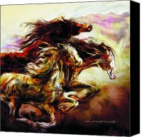 Wild Horses Canvas Prints - Wild Things Canvas Print by Mike Massengale