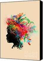 Hair Canvas Prints - Wildchild Canvas Print by Budi Satria Kwan