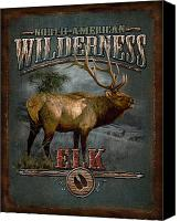 Elk Canvas Prints - Wilderness Elk Canvas Print by JQ Licensing