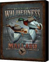 Woodland Canvas Prints - Wilderness mallard Canvas Print by JQ Licensing