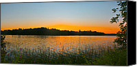 Camelot Canvas Prints - Wilderness Point sunset panorama Canvas Print by Gary Eason