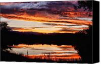 Custom Framed Art Canvas Prints - Wildfire Sunset Reflection Image 28 Canvas Print by James Bo Insogna