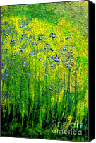 First Star Art By Jrr Canvas Prints - Wildflower Impression by jrr Canvas Print by First Star Art