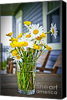 Porch Canvas Prints - Wildflowers bouquet at cottage Canvas Print by Elena Elisseeva