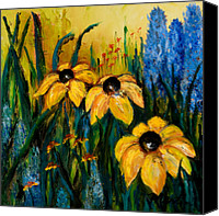 Susan Canvas Prints - Wildflowers Canvas Print by Larry Martin