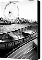 Jersey Shore Canvas Prints - Wildwood Black Canvas Print by John Rizzuto