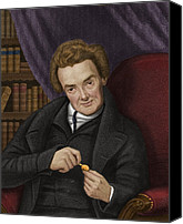 Abolitionist Canvas Prints - William Wilberforce, British Abolitionist Canvas Print by Maria Platt-evans