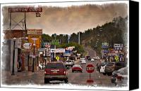 Williams Canvas Prints - Williams Arizona - IMPRESSIONS Canvas Print by Ricky Barnard