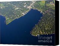 Lake Geneva Wisconsin Canvas Prints - Williams Bay Lake Geneva Wisconsin Canvas Print by Bill Lang