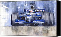 Williams Painting Canvas Prints - Williams BMW FW24 2002 Juan Pablo Montoya Canvas Print by Yuriy  Shevchuk