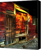 Photographs With Red. Canvas Prints - Williams Feed Mill in Williams Indiana Canvas Print by Julie Dant