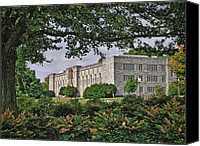 Williams Canvas Prints - Williams Hall Virginia Tech Canvas Print by Kathy Jennings