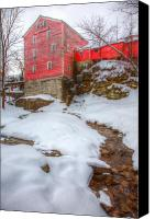 Ellicott Canvas Prints - Williams Water Mill Canvas Print by James Marvin Phelps