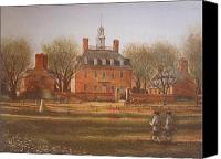 Brick Canvas Prints - Williamsburg Governors Palace Canvas Print by Charles Roy Smith