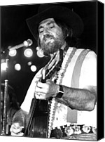 Willie Canvas Prints - Willie Nelson, 1978 Canvas Print by Everett