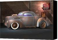 Modified Canvas Prints - Willys Street Rod Canvas Print by Stuart Swartz