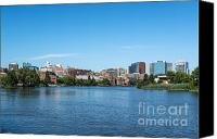 Skylines Canvas Prints - Wilmington Skyline Canvas Print by John Greim