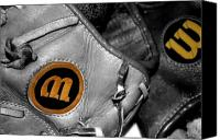 Baseball Mitt Canvas Prints - Wilson 2 Canvas Print by Jame Hayes