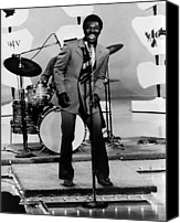 Drum Set Canvas Prints - Wilson Pickett, Early 1970scsu Archives Canvas Print by Everett
