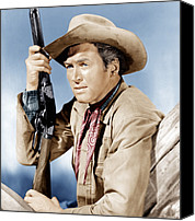 1950 Movies Photo Canvas Prints - Winchester 73, James Stewart, 1950 Canvas Print by Everett