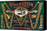 Winchester Canvas Prints - Winchester Double W Cartridge Board Canvas Print by Unknown