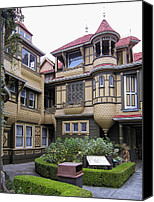Haunted House Canvas Prints - WINCHESTER HOUSE - DOOR to NOWHERE Canvas Print by Daniel Hagerman