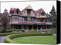 Haunted House Canvas Prints - Winchester Mystery House Canvas Print by Daniel Hagerman