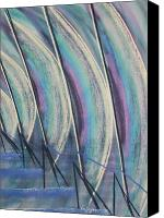 Skating Pastels Canvas Prints - Wind Sails Canvas Print by Richard Van Order