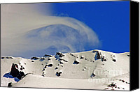 Skiing Prints Canvas Prints - Wind Skier Canvas Print by Tap On Photo