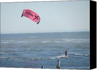 Beach  Wind Surfing Canvas Prints - Wind Surfer Canvas Print by Gregory Smith