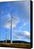 Kinetic Canvas Prints - Wind Turbine Farm Canvas Print by Olivier Le Queinec