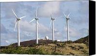 Ascension Island Canvas Prints - Wind Turbines At The Ascension Canvas Print by Stocktrek Images