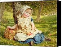 Picker Canvas Prints - Windfalls Canvas Print by Sophie Anderson