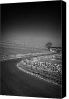 Peak One Canvas Prints - Winding B Road Through The Derbyshire Dales Peak District National Park In Derbyshire England Uk Canvas Print by Joe Fox