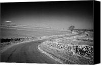 Peak One Canvas Prints - Winding B Road Through The Derbyshire Dales Peak District National Park In Derbyshire Canvas Print by Joe Fox