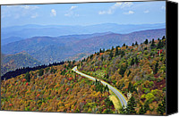 Susan Leggett Canvas Prints - Winding Road Canvas Print by Susan Leggett