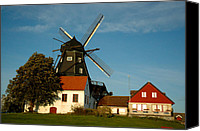 Malmo Digital Art Canvas Prints - Windmill - Sweden Canvas Print by Joshua Benk