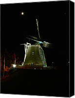 Clinton Photo Canvas Prints - Windmill at Clinton Iowa Canvas Print by David Bearden