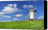 Featured Canvas Prints - Windmill Canvas Print by Drew McAvoy