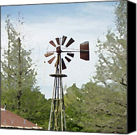 Bestoftheday Canvas Prints - Windmill Ii, You Can Sell Your Canvas Print by James Granberry