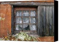 Santa Fe Digital Art Canvas Prints - Window at Old Santa Fe Canvas Print by Kurt Van Wagner