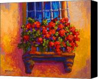 Spring Painting Canvas Prints - Window Box  Canvas Print by Marion Rose