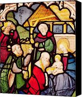 Magi Canvas Prints - Window depicting the Adoration of the Magi Canvas Print by French School