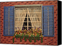 Maria Medina Canvas Prints - Window Garden Canvas Print by Maria Medina