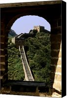 Asian Art Canvas Prints - Window Great Wall Canvas Print by Bill Bachmann - Printscapes