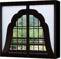 Miyajima Canvas Prints - Window in a Shinto Temple Canvas Print by Jeremy Woodhouse