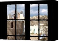 Santa Fe Canvas Prints - Window Santa Fe Canvas Print by James Granberry