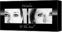 Close Up Mixed Media Canvas Prints - Window to the Soul Canvas Print by Steven  Michael